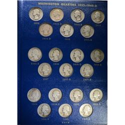 1932-1964 AVE CIRC WASHINGTON QUARTER SET