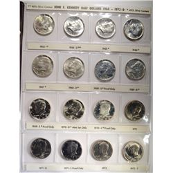 1964-87 KENNEDY HALF DOLLAR SET, BU & PROOF