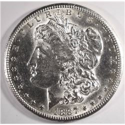 1887-S MORGAN SILVER DOLLAR, CH BU SEMI KEY
