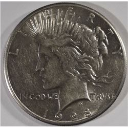 1928 PEACE SILVER DOLLAR, AU KEY DATE