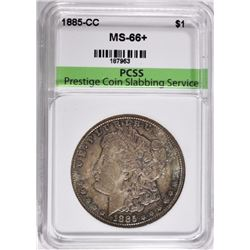 1885-CC MORGAN SILVER DOLLAR PCSS SUPERB GEM+