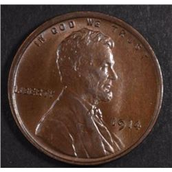 1914 LINCOLN CENT GEM BU+ BROWN