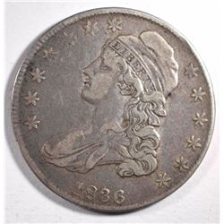 1836 CAPPED BUST HALF DOLLAR, VF