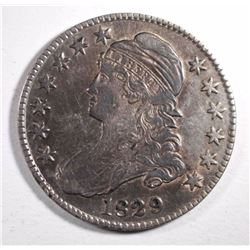 1829 CAPPED BUST HALF DOLLAR, F/VF