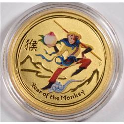 2016 AUSTRALIA 1/10th oz GOLD YEAR OF THE MONKEY