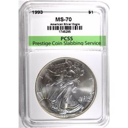 1993 AMERICAN SILVER EAGLE, PCSS PERFECT GEM BU