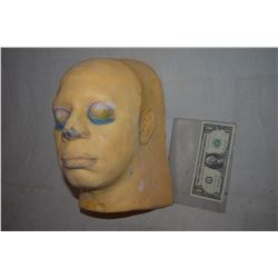 ZZ-CLEARANCE DISPLAY HALF HEAD FOR MASKS HATS WIGS SCULPTING ETC 4