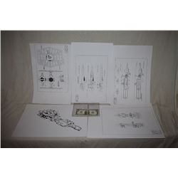 STAR WARS LOT HORDE OF SPACESHIP BLUEPRINTS