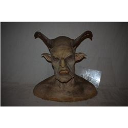 DEMON SILICONE BUST WITH HORNS