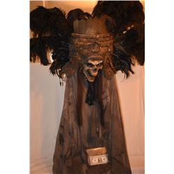 SKELETON NATIVE KING MASK WITH FABRIC OOAK
