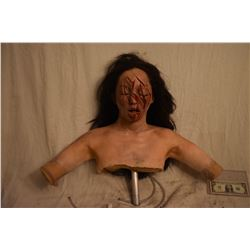 TRUE BLOOD VAMPIRE VICTIM WITH GOUGED FACE SILICONE FULL BUST WITH ARMS