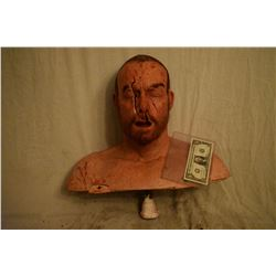 TRUE BLOOD BLOWN OPEN FACE BLOODY SILICONE BUST