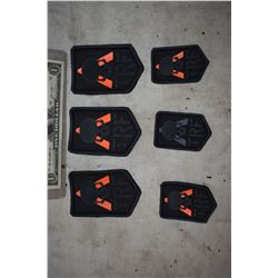 TRANSFORMERS THE LAST KNIGHT TRANSFORMER REACTION FORCE UNIFORM BADGES ORANGE LOT OF 6