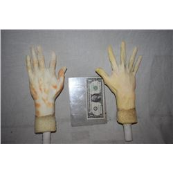 ZZ-CLEARANCE POSEABLE ARMATURED MATCHED PAIR OF HANDS FOR DUMMY OR MANNEQUIN DISPLAYS 2