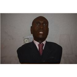 FRINGE LANCE REDDICK GUN SHOT HEAD BUST SILICONE WITH REAL EYES AND TEETH