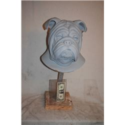 BULL DOG MAN HEAD UNFINISHED BUST