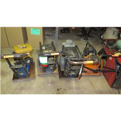 Assorted Compactors 4pc (being sold for parts/repair)
