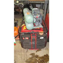 X Air SC70 and Hitachi Air Compressors 2pc (being sold for parts/repair)