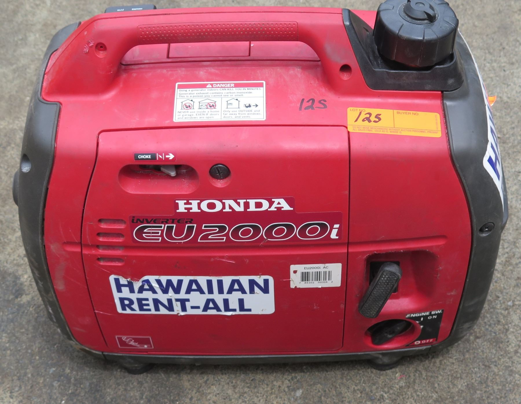 Video; Image 1 : Honda EU2000I 2000 Watt Portable Generator W/Inverter,  Super Quiet ...