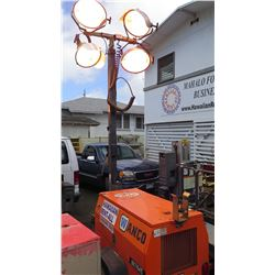 Wanco Light Tower - All 4 Lights Works -Kubota Motor 3352 Hours