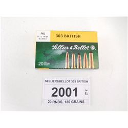 SELLIER&BELLOT 303 BRITISH