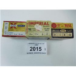"ASSORTED 16 & 20 GA 2 3/4"" AMMO"
