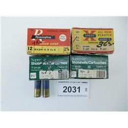 ASSORTED 12 GA 2 3/4  AMMO