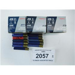 "ASSORTED 410 3"" & 2 1/2"" AMMO"