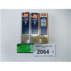 ASSORTED 22 LONG& LONG RIFLE AMMO