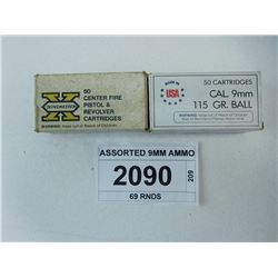 ASSORTED 9MM AMMO