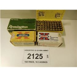ASSORTED 32-20 WIN AMMO