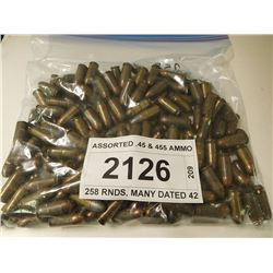 ASSORTED .45 & 455 AMMO