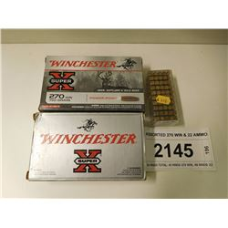ASSORTED 270 WIN & 22 AMMO