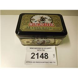 WINCHESTER 22 LR AMMO WITH TIN