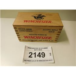 WINCHESTER 22 LR AMMO WITH BOX