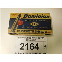 REMINGTON 32 WINCHESTER SPL AMMO
