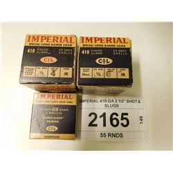 "IMPERIAL 410 GA 2 1/2"" SHOT & SLUGS"