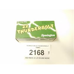 REMINGTON 22 THUNDERBOLT AMMO