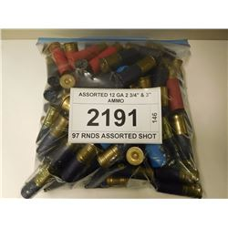 "ASSORTED 12 GA 2 3/4"" & 3"" AMMO"