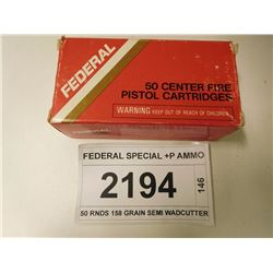 FEDERAL SPECIAL +P AMMO