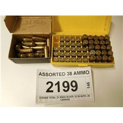 ASSORTED 38 AMMO