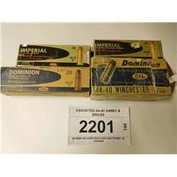 ASSORTED 44-40 AMMO & BRASS