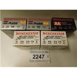 "ASSORTED 12 GA 2 3/4"" AMMO"