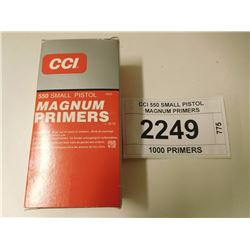 CCI 550 SMALL PISTOL MAGNUM PRIMERS