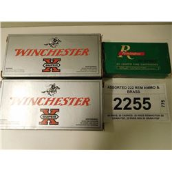 ASSORTED 222 REM AMMO & BRASS