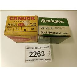 "ASSORTED 20 GA 2 3/4""AMMO"