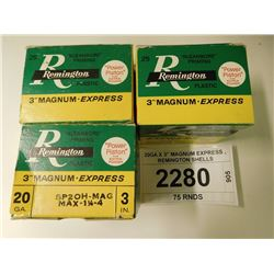 "20GA X 3"" MAGNUM EXPRESS , REMINGTON SHELLS"