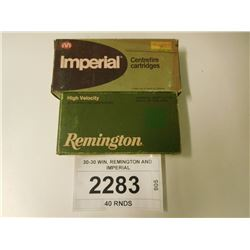 30-30 WIN, REMINGTON AND IMPERIAL