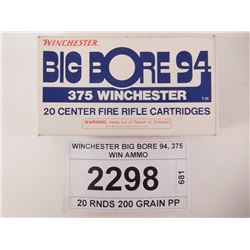 WINCHESTER BIG BORE 94, 375 WIN AMMO
