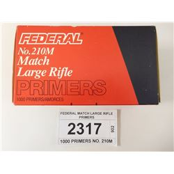 FEDERAL MATCH LARGE RIFLE PRIMERS